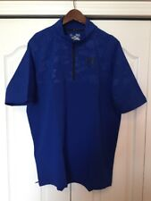 New Under Armour Undeniable Cage Jacket-1/4 Zip-Baseball Royal Blue Mens M