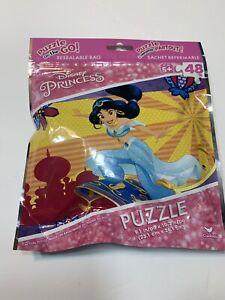Puzzle On The Go! Disney Princess Jasmine Puzzle 48 Pieces Age 5+ ~ Brand New