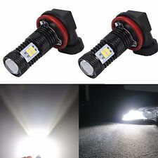 JDM ASTAR 2pc 1500Lm H11 H8 3030 SMD White LED Bulbs DRL Fog Running Lights Lamp