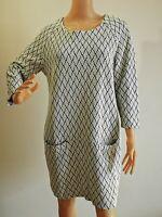 INDISKA Damen Kleid A-Linie Tunika Kleid Taschen Neuwertig Gr. L   #LRZ1363