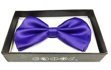 Purple Men Women Bowtie Classic Clip-On Neck-wear Tuxedo Adjustable