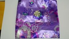 Boxed Satin Floral Scarf Set square 90 x 90 cm scarf with clip