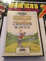 Sega Master System SMS Retro gaming Game World Class Leaderboard Manual Pal Cib