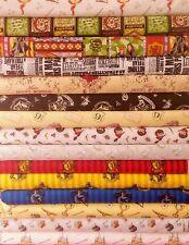 HARRY POTTER Hogwarts Licensed Cotton Fabrics, PER METRE 110cm wide FREE POST !
