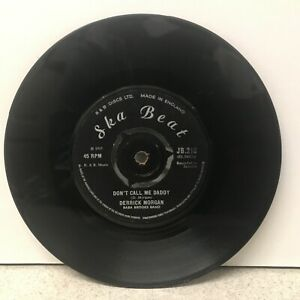 "7"" Don't Call Me Daddy DERRICK MORGAN; BABA BROOKS BAND UK Original JB 218"