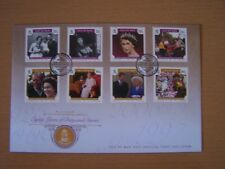 ISLE OF MAN,2006,QE11 ,80TH BIRTHDAY,8 VALS COMPLETE ON FDC,EXCELLENT.
