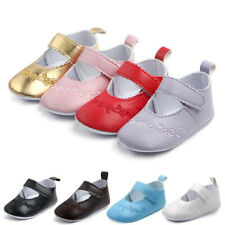 Newborn Baby Girl Stitchwork Anti-slip Soft Crib Shoes Leather Sneaker Prewalker