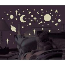 CELESTIAL GLOW in the DARK 258 Wall Stickers Stars Planet Moon Room Decor Decals