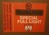 OLD POLISH BEER LABEL, BROWAR WARKA PIWO WARECKIE POLAND, SPECAL LIGHT 1