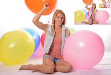 "50x 60cm+Ø (24""/190er) Riesen- Luftballon * 50x 24"" Riesen- Ballon BUNT *weich*"