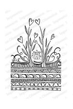 A FRIEND LOVES-Impression Obsession Cling Rubber Stamp-Zenspirations-Zentangle