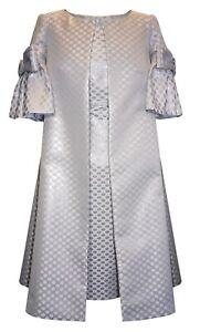 NEW!...CARLA RUIZ MOTHER OF THE BRIDE  SILVER & LILAC DRESS & COAT  UK SIZE 14