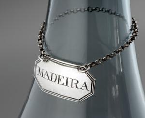 1807 Sterling Silver Georgian ELIZABETH MORLEY Decanter Bottle Label for MADEIRA