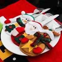 Sac Housse Décoration Table Vaisselle Élan Décor Noël Fete Couverts Support Mode