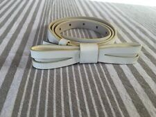"Alannah Hill Cream Patent Leather ""I Mean Love Me Belt"" - Size M/L - RRP $79"