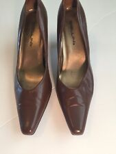 """Bellini Women's Brown Leather """"Rosa"""" Pump Size 8.5 WIDE Excellent Used Condition"""