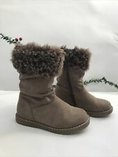 Cupcake Couture Girls Brown Size 8/26 Fluffy Boots