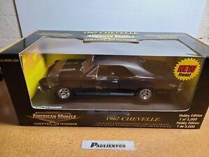 1967 Chevrolet Chevelle Black 1:18 Ertl American Muscle Chevy Thunder MIB