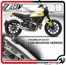 Zard Low Mount Racing Steel Exhaust System for Ducati Scrambler 800 2015 15>
