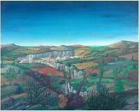 Serge Fiorio: Stump in Montjustin Landscape/ Italian French Provence Realism