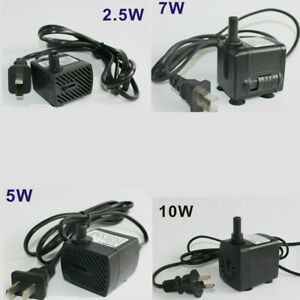 2.5-10W 220V Mini Small Submersible Water Pump Aquarium Pond Fish Tank Fountain