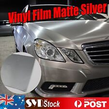 30 x 151cm Silver Matte Vinyl Car Wrap Air Release Film Sheet Decal DIY Cutting