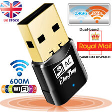 More details for ekobuy ac600 dual band mini wireless usb adapter dongle wifi 802.11 abgn ac 5ghz