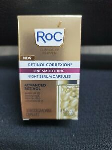 Roc Retinol Correxion Line Smoothing Night Serum 30 Capsules. 0.35 FL Oz. #C1