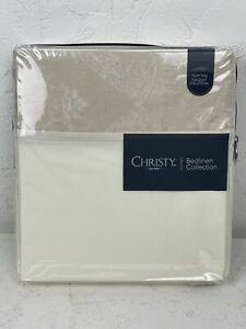 Christy 'Byron' in Gold Super King Flat Sheet 310x270cm Bed Linen Jacquard N697