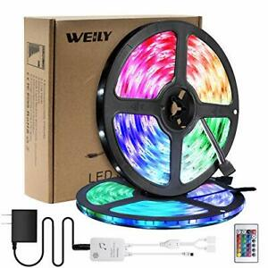 Led Strip Lights 32.8ft with Remote 10M Led Lights Waterproof Music Sync RGB Led
