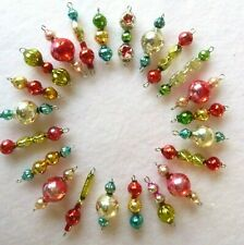 22 Vtg Mercury Glass Xmas/Easter Feather Tree Garland Bead Icicle Ornaments Aa