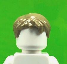 LEGO DARK TAN Minifigure Hair Headgear Short Tousled Boy Side Part 62810 (x1)