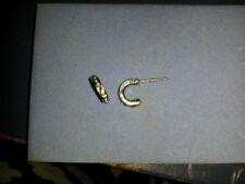 silver half hoop  stud earrings Fashion Women rhinestones