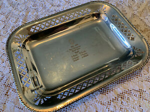 Vintage 1960s Silver Plated Dish Plate Royal Sydney Yacht Squadron Silverplate