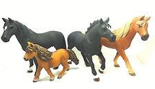 3-8- Schleich Set Horses 4 Figuren Convolute Horse Horses
