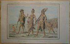 1837 Vernier / De Bry print FLORIDA INDIANS (#1)