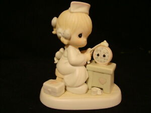 Precious Moments-Nurse Fixing Clock-Time Heals-2000 RETIRED-WITH BOX