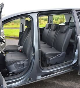 SEAT Alhambra 7 Seater Tailored Waterproof Leather Look Taxi Car Seat Covers