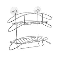 Stainless Steel Shower Caddy Bath Organizer Shelf Wire Basket Suction Cup UKES