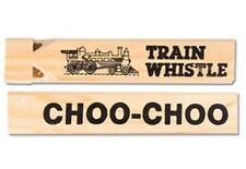 Wooden Train Whistle Play Conductor Wood Locomotive Choo-Choo Kids Classroom Toy