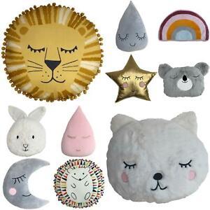 Shaped Cuddly Cushions Soft Fluffy Kids Nursery Filled Cushions by little furn.
