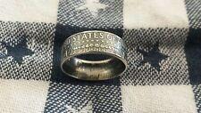 Handcrafted 90% Silver 1964 Kennedy Half Dollar Coin Ring U Pick Sz. 6.5-13