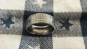 Handcrafted 90% Silver 1964 Kennedy Half Dollar Coin Ring U Pick Sz. 8-13