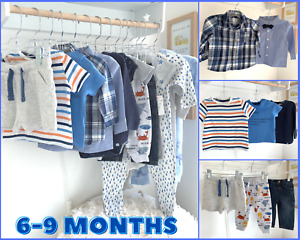 Baby Boys 6-9 Months Clothes LARGE Bundle Trousers Tops T Shirts Sleepsuits