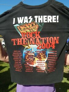 Kiss Vintage Rock The Nation T Shirt Size L Large 2004 I WAS THERE