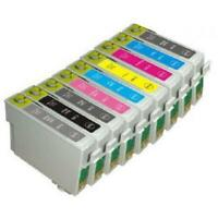 9 x Ink Cartridges Comptialbe With Epson R2400, R 2400 -T0591-9
