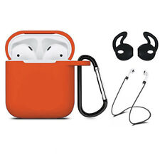 For Apple AirPods Charging Silicone Case Cover With Anti Lost Strap Accessories