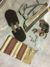 Miscellaneous tack: stirrups, girths, saddle blanket, bits, english and western