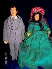 Peggy Nisbet Movie Star dolls #P/750 Clark Gable and #P/751 Vivian Leigh