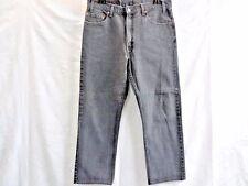 Levi 505 STRAIGHT LEG Denim JEANS BLACK Mens Gents W36 L28 Grade A SKU WB304